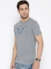 PUMA Grey Melange Varsity Graphic Printed T-shirt