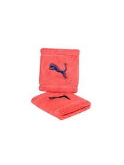 PUMA Unisex Set of 2 Coral Orange Wristbands
