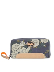 Be For Bag Women Blue Printed Wallet