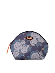 Be For Bag Women Blue Printed Travel Pouch