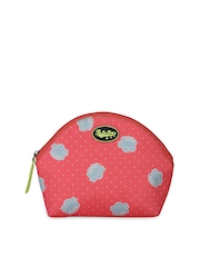 Be For Bag Women Coral Red Printed Travel Pouch