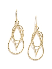 FunkyFish Gold-Toned Drop Earrings