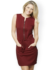 Miss Chase Maroon Sheath Dress