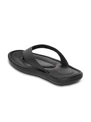Valentino Men Black Leather Sandals