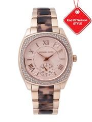 Michael Kors Women Peach-Coloured Dial Watch MK6276I