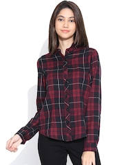Vaak Red & Black Checked Shirt