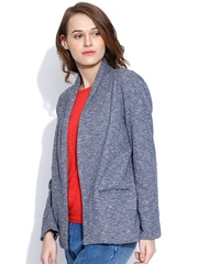 Vaak Grey Melange Open Front Blazer