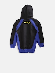 Barcelona Boys Black Hooded Sweatshirt