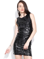 Vero Moda Black Sequinned Sheath Dress