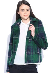 Vero Moda Green Checked Coat