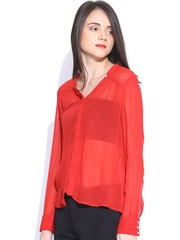 Vero Moda Red Sheer Shirt