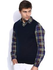 Indian Terrain Navy Sleeveless Sweater