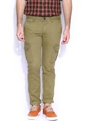 Indian Terrain Khaki Brooklyn Fit Cargo Trousers