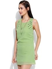 Loco En Cabeza Green A-Line Dress