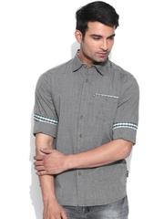 American Swan Grey Smart Fit Casual Shirt