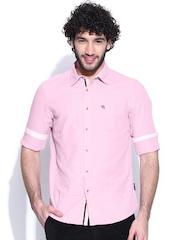 American Swan Pink Smart Fit Casual Shirt