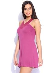 Meish Pink Sequinned Mini Dress