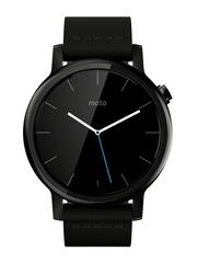 Moto 360 (2nd Gen) Black Leather Smart Watch