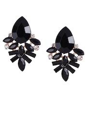 Shining Diva Black Drop Earrings