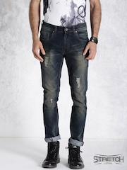Roadster Blue Skinny Fit Stretch Jeans