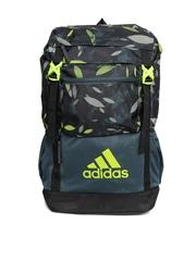Adidas Unisex Black & Green NGA 2.0 G3 Leaf Print Backpack