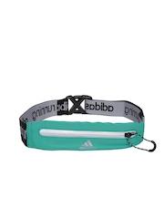 Adidas Unisex Sea Green & Black Run Belt Waist Pouch