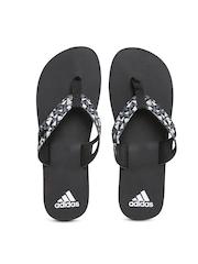 Adidas Men Black & White Ozor Printed Flip-Flops
