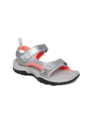 Adidas Men Silver-Toned Marengo Sports Sandals