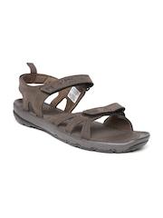 Adidas Men Brown Kerio Leather 2.0 Sports Sandal