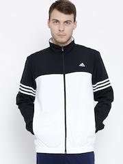 Adidas Black & White BASEMID Panelled Training Jacket