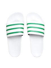 Adidas Originals Men White ADILETTE Textured Flip-Flops