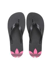 Adidas Originals Women Black Adisun Flip-Flops