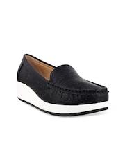 Mochi Women Black Loafers