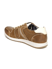 Spunk Men Tan Brown Leather Casual Shoes