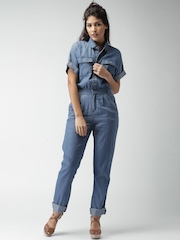FOREVER 21 Blue Denim Jumpsuit
