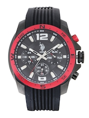U.S. Polo Assn. Men Black Dial Chronograph Watch USAT0095