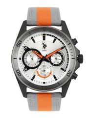 U.S. Polo Assn. Men Silver-Toned Dial Watch USAT0075