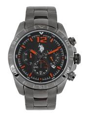 U.S. Polo Assn. Men Black Dial Chronograph Watch USAT0109