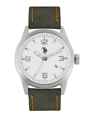U.S. Polo Assn. Men White Dial Watch USAT0114