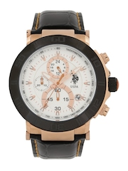 U.S. Polo Assn. Men White Dial Chronograph Watch USAT0126