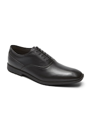 Rockport Men Black Leather Formal Shoes