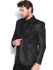 Blazer Quarter Black Single-Breasted Slim Blazer