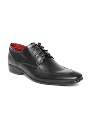 Provogue Men Black Leather Formal Shoes