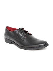 Provogue Men Black Leather Formal Shoes