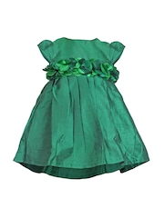 Bio Kid Girls Green Fit & Flare Dress