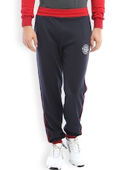 2go ACTIVE GEAR Navy & Red Tapered Fit Track Pants