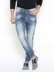 SPYKAR Blue Washed Slim Jeans