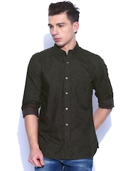 French Connection Black & Grey Printed Casual Shirt
