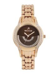 Westar Women Brown Dial Studded Watch 0417PPN120