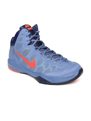 Nike Men Blue Zoom Without A Doubt Running Shoes
